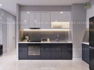 thiết kế nội thất nhà bếp vinhomes golden river