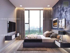 thiết kế nội thất phòng ngủ vinhomes golden river