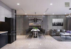 thiết kế nội thất phòng ăn vinhomes golden river