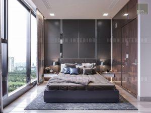 thiết kế nội thất phòng ngủ master vinhomes golden river