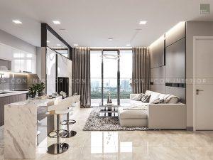 nội thất căn hộ vinhomes golden river phòng khách