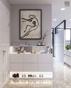 nội thất tiền sảnh căn hộ vinhomes golden river