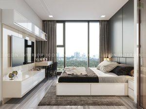 nội thất căn hộ vinhomes golden river phòng ngủ master