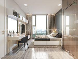 nội thất phòng ngủ căn hộ vinhomes golden river