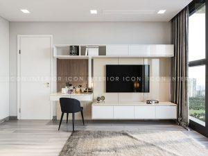 thiết kế nội thất căn hộ vinhomes golden river phòng ngủ matser