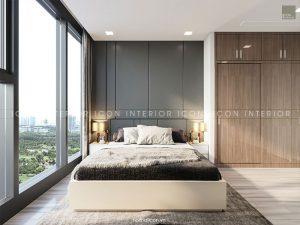 nội thất phòng master căn hộ vinhomes golden river