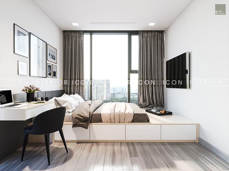 nội thất căn hộ vinhomes golden river phòng ngủ nhỏ