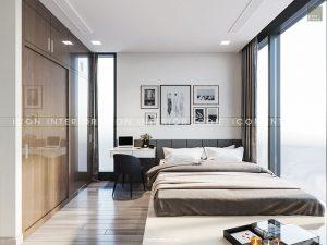 nội thất phòng ngủ nhỏ căn hộ vinhomes golden river