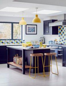 xu hướng thiết kế bếp sắc xanh