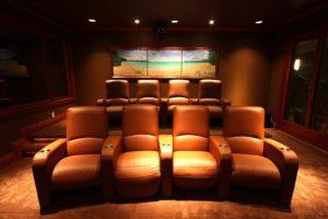 thiết kế phòng giải trí tại nhà - phòng chiếu phim 1