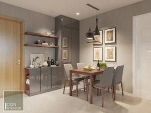 thiết kế nội thất phòng ăn căn hộ masteri