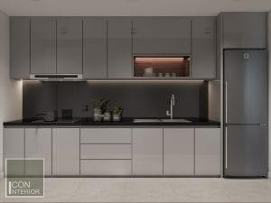 thiết kế nội thất nhà bếp căn hộ masteri
