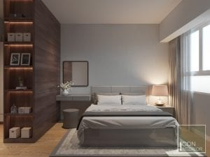 thiết kế nội thất phòng master căn hộ masteri