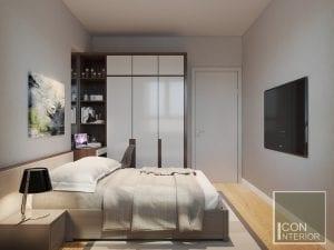 thiết kế nội thất phòng ngủ nhỏ căn hộ masteri