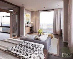 thiết kế nội thất biệt thự lucasta phòng ngủ master