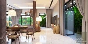 thiết kế nội thất biệt thự lucasta