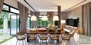 thiết kế nội thất biệt thự lucasta phòng ăn