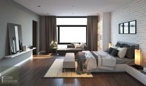 thiết kế nội thất biệt thự lucasta phòng ngủ