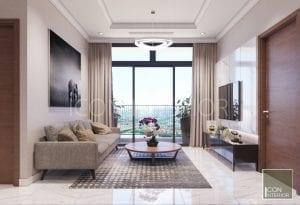 tư vấn thiết kế nội thất vinhomes - phòng khách