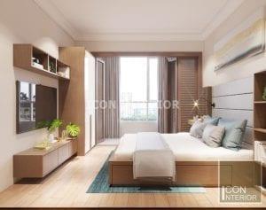 phòng ngủ master căn hộ cao cấp the manor
