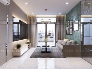căn hộ kingston residence phòng khách