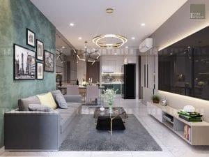 thiết kế căn hộ kingston residence phòng khách