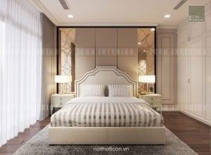 thiết kế nội thất phòng ngủ master căn hộ chung cư cao cấp