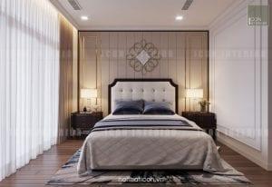 thiết kế nội thất phòng master căn hộ chung cư cao cấp