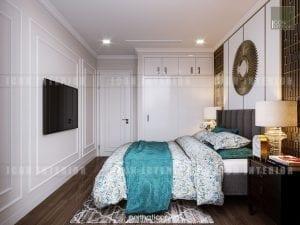 thiết kế nội thất phòng ngủ nhỏ căn hộ chung cư cao cấp