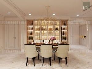 thiết kế nội thất phòng ăn căn hộ chung cư cao cấp