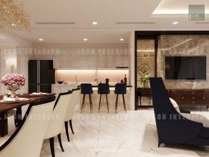 thiết kế nội thất quầy bar căn hộ chung cư cao cấp