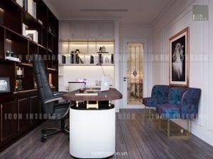 thiết kế nội thất làm việc căn hộ chung cư cao cấp