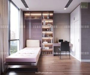 thiết kế nội thất châu âu - giường thông minh