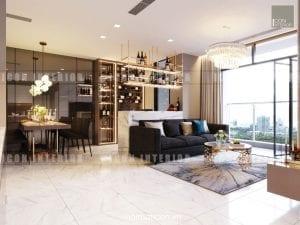thiết kế nội thất châu âu - phòng khách