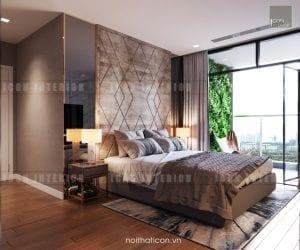 thiết kế nội thất châu âu - phòng ngủ master