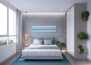 nội thất phòng ngủ chung cư 56m2