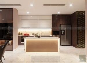 thiết kế nội thất nhà bếp vinhomes central park