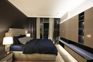 thi công nội thất căn hộ vinhomes central park - phòng ngủ 1