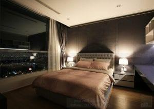 thi công nội thất căn hộ hiện đại - phòng ngủ 3