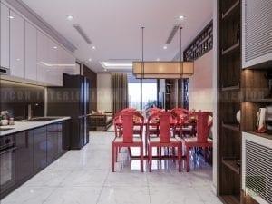 nội thất phòng ăn căn hộ chung cư vinhomes