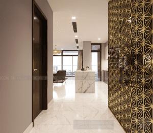 thiết kế nội thất tiền sảnh vinhomes central park