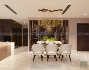 thiết kế nội thất phòng ăn vinhomes central park