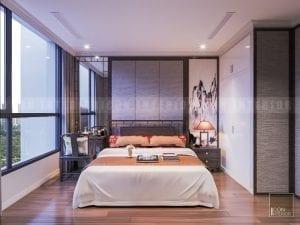 nội thất phòng ngủ căn hộ chung cư vinhomes