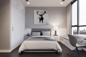 thiết kế nội thất phòng ngủ nhỏ vinhomes central park