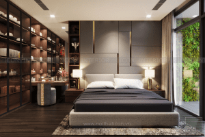 thiết kế nội thất phòng master vinhomes central park