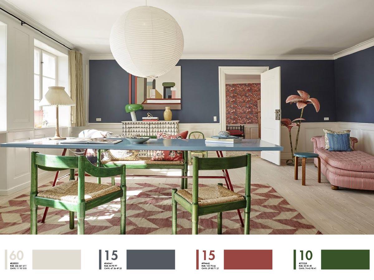 quy tắc phối màu sắc trong thiết kế nội thất