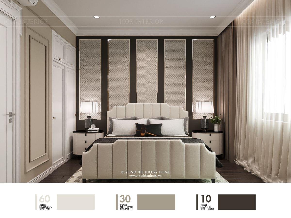 cách phối màu sắc nội thất
