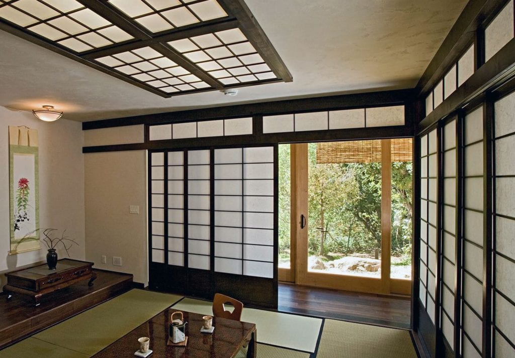 Cửa trượt Soji bằng gỗ Nhật Bản