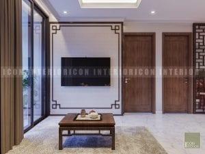 thiết kế nội thất phòng khách căn hộ 2 phòng ngủ