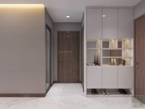 thiết kế nội thất tiền sảnh căn hộ 2 phòng ngủ